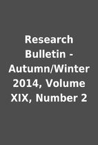 Research Bulletin - Autumn/Winter 2014,…
