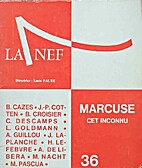 Marcuse, cet inconnu by Collectif