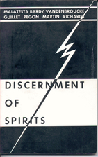 Discernment of Spirits by Jacques Guillet