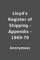 Lloyd's Register of Shipping - Appendix…