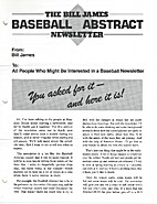 The Bill James Baseball Abstract Newsletter…