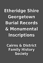 Etheridge Shire Georgetown Burial Records &…