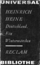 Germany: A Winter's Tale by Heinrich Heine