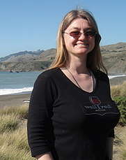 Author photo. Crystal Carroll on the California coast