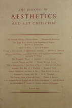 The Journal of Aesthetics and Art Criticism…