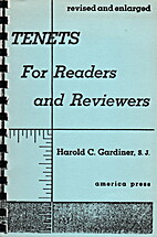 Tenets for Readers and Reviewers by Harold…