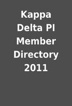 Kappa Delta PI Member Directory 2011