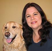 Author photo. Rachele and her dog Savanna