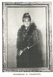 Author photo. Elizabeth W. Champney (1850-1922) Buffalo Electrotype and Engraving Co., Buffalo, N.Y.