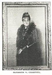 Author photo. Elizabeth W. Champney (1850-1922) Buffalo Electrotype and Engraving Co., Buffalo, N.Y.