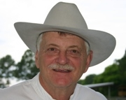 Author photo. Thomas Block, at his Florida Ranch. Photo taken by his wife Sharon.