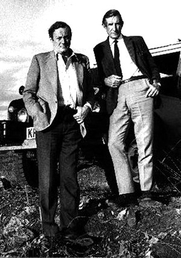 Author photo. Wilfred Thesinger (on Right) with Gavin Young