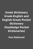 Greek Dictionary Greek-English and…