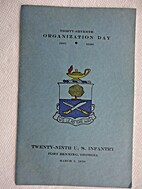Thirty-Seventh Organization Day, 1901-1938,…