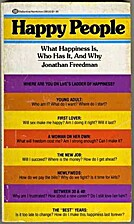 Happy People by Jonathan Freedman