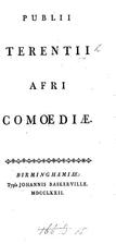 Publii Terentii Afri comoediae, Phaedri…