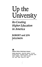 Up the University: Re-Creating Higher…