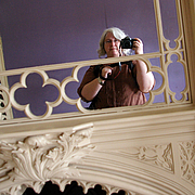 Author photo. Photo of Julie Bozza taken by herself at Strawberry Hill