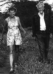 Author photo. Joy Adamson, on left.  Credit:  Marion Kaplan.