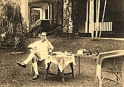 Author photo. Edred John Henry Corner at Singapore Botanical Garden, during the Japanese occupation