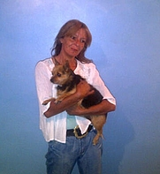 Author photo. Photograph of Julia and Tinkerbell taken by Jonathan Walker