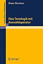 Eine Termlogik mit Auswahloperator (Lecture…