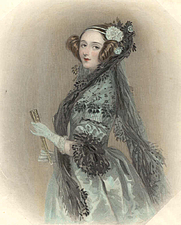 Author photo. Ada King, countess of Lovelace (1815-1852) Print dated Nov. 1, 1838