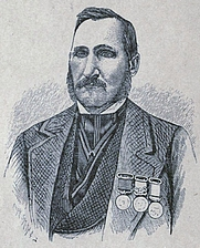 Author photo. Image from <b><i>Stirring incidents in the life of a British soldier: an autobiography</i></b> (1881) by Thomas Faughnan