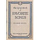 The Gray Book Of Favorite Songs by No Author