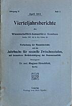 Jahrbuch für sexuelle Zwischenstufen unter…