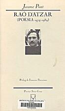 Raó d'atzar : Poesia 1974-1989 by Jaume…