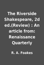 The Riverside Shakespeare, 2d ed.(Review) :…