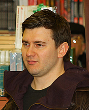 Author photo. Russian fantasy writer Dmitry Glukhovsky meets his readers in Moscow. 6 March 2011 By A.Savin (Wikimedia Commons · WikiPhotoSpace) (Own work)