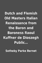 Dutch and Flemish Old Masters Italian…