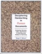 Deciphering Handwriting in German Documents:…