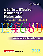 Geometry and Spatial Sense, Grades K-3 by…