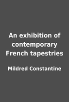 An exhibition of contemporary French…