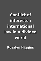 Conflict of interests : international law in…