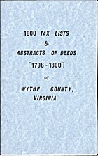 1800 tax lists & abstracts of deeds…
