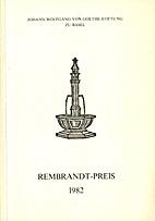 Verleihung des Rembrandt-Preises 1982 an…
