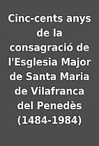 Cinc-cents anys de la consagració de…