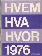 Hvem hva hvor 1976 : Aftenpostens aktuelle…