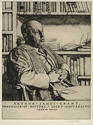 Author photo. Arthur James Grant [print by Malcolm Osborne, 1928; credit: The Fitzwilliam Museum, University of Cambridge]
