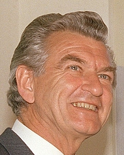 Author photo. Australian Prime Minister Bob Hawke in the Pentagon. June 1983. DoD photo by Robert Ward.