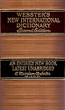 Webster's New International Dictionary:…