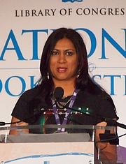 """Author photo. reading at National Book Festival By Slowking4 - Own work, GFDL 1.2, <a href=""""https://commons.wikimedia.org/w/index.php?curid=62180266"""" rel=""""nofollow"""" target=""""_top"""">https://commons.wikimedia.org/w/index.php?curid=62180266</a>"""