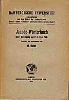 Jaunde-Wörterbuch by Martin Heepe