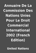 Annuaire De La Commission Des Nations Unies…