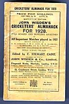 John Wisden's Cricketers' Almanack for 1928…