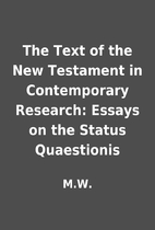 The Text of the New Testament in…
